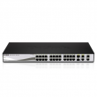 WebSmart 24-Port 10/100 PoE Switch with 2 Combo SFP and 2 Gigabit Ports (DES-1210-28P)